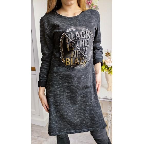 Strečové šaty BLACK