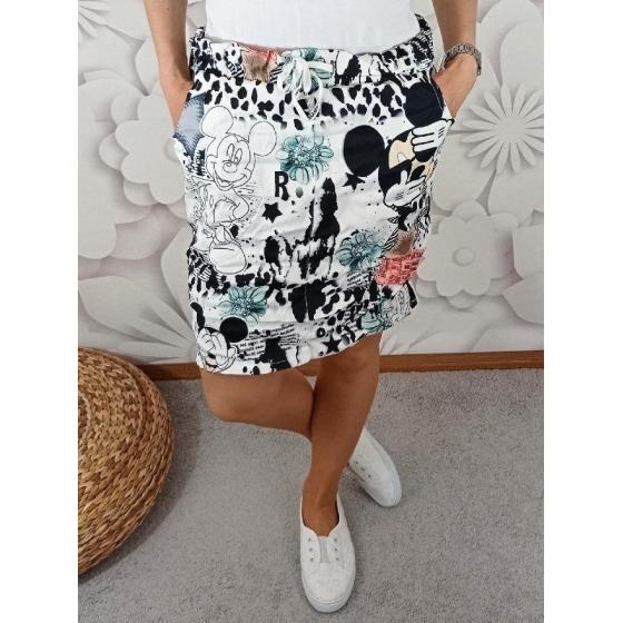 Krásná riflová sukně v pase do gumy