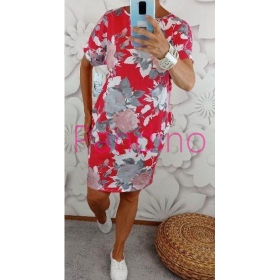 bavlněné šaty s květinovým vzorem
